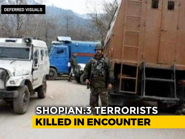 Video : Three Terrorists Killed In Encounter In Jammu And Kashmir's Shopian