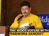 Video : Trinamool Congress Leader Sings Rabindra Sangeet, In Gujarati, To Voters