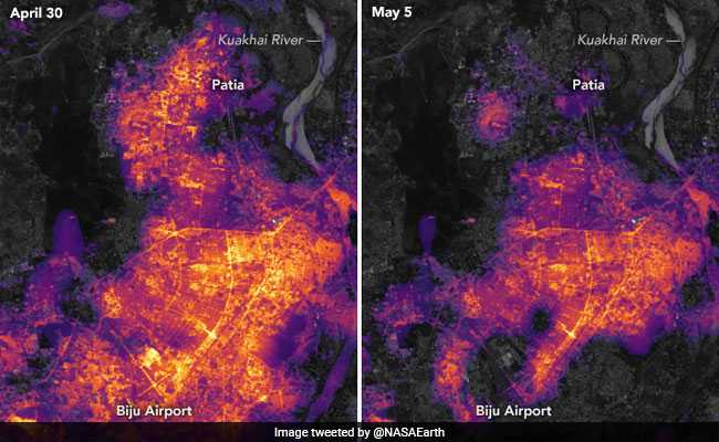 NASA Images Show Bhubaneswar Plunged Into Darkness After Cyclone Fani