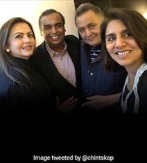 Mukesh Ambani And Nita Ambani Dropped By To See Rishi Kapoor In New York