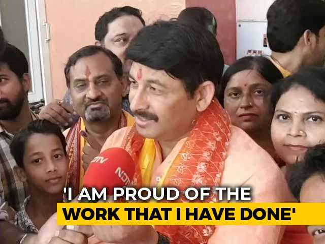 "Video : ""95 In Every 100 People Rooting For Me"": BJP's Manoj Tiwari After Voting"