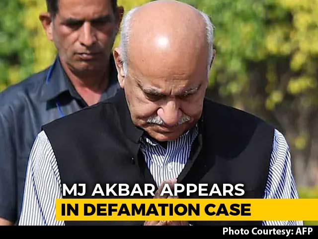 "Video : ""Don't Remember,"" Says MJ Akbar, Questioned In Case Against Priya Ramani"