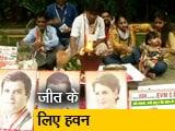 Video : राहुल गांधी के घर के बाहर हवन