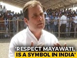 "Video: ""Mayawati National Symbol, I Respect And Love Her"": Rahul Gandhi To NDTV"
