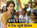 Video : भाई राहुल गांधी के प्रचार के लिए अमेठी पहुंचीं प्रियंका गांधी