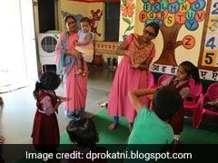 தன் மகளை அங்கன்வாடியில் சேர்த்த மாவட்ட ஆட்சியர்…!