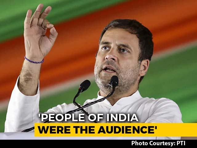 "Video : ""56-Inch Boxer Punched His Coach Advani Ji In Face"", Says Rahul Gandhi"