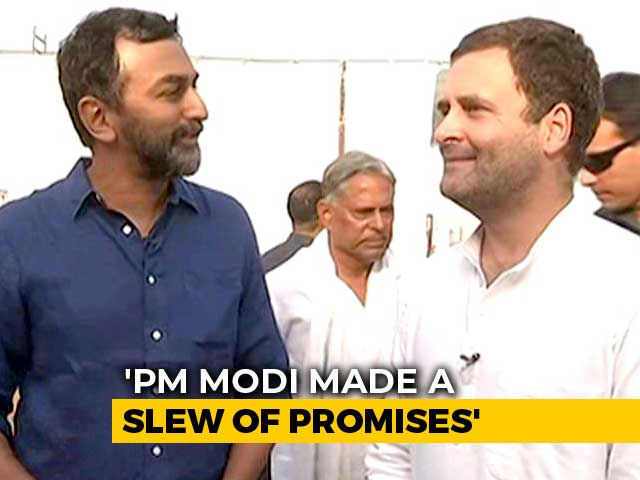 "Video : ""We Boxed PM In, He Can't Talk,"" Says Rahul Gandhi On Attack Over Jobs"
