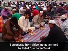 Shri Sita Ram Temple In Ayodhya Hosts Iftar Meal In Its Premises