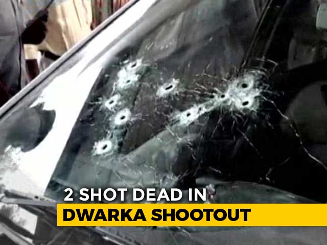 Video : 2 Shot Dead Inside Car In Busy Traffic In Delhi Gang War: Police