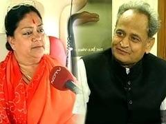 Vasundhara Raje, Ashok Gehlot Travel In Same Flight, But Don't Talk