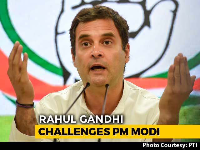 "Video : ""Unprecedented Event"": Rahul Gandhi Mocks PM Modi's Briefing"