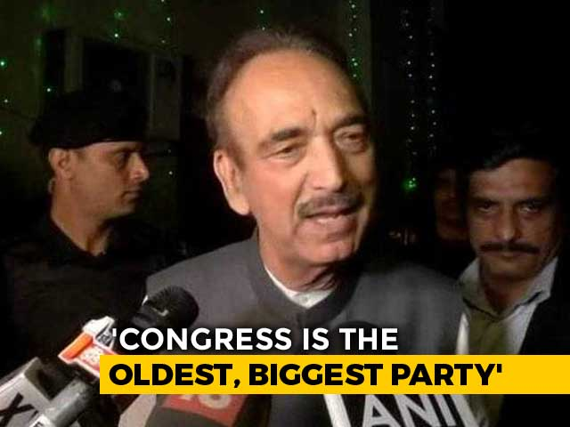 Ghulam Nabi Azad's U-Turn After 'Congress Doesn't Want PM's Post' Remark