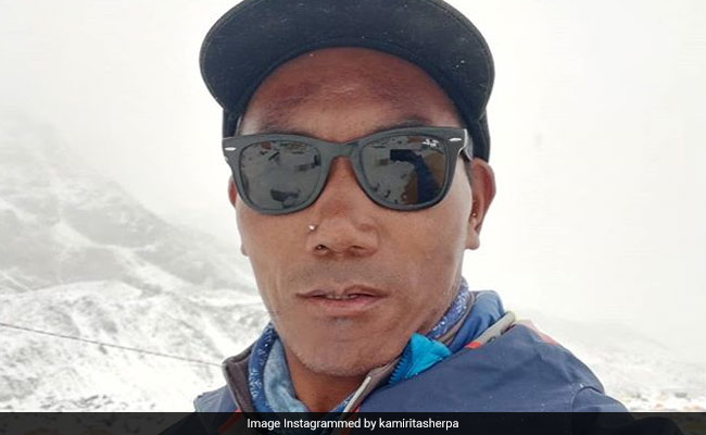 Sherpa scales Mt. Everest for record 23rd time