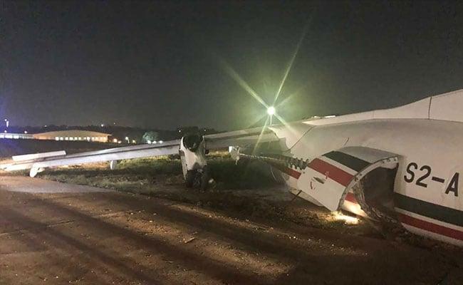 11 Injured As Plane Slides Off Runway After Storm In Myanmar