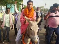 Case Against Bihar Politician For Riding A Donkey Before Filing Nomination