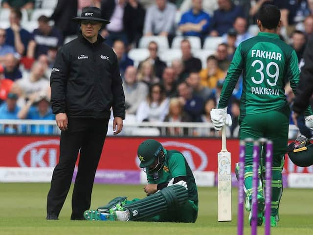 Imam-ul-Haq Had To Retire Hurt After A Ball By Mark Wood Hit Him On The Elbow