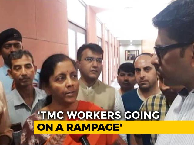 Video : On Violence During Amit Shah's Rally, Nirmala Sitharaman Attacks Mamata Banerjee