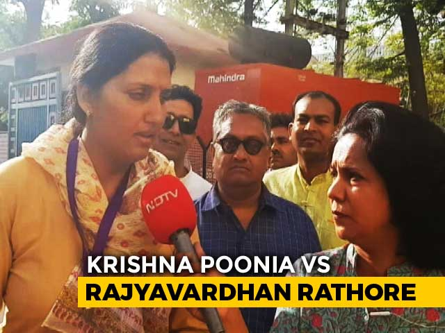 "Video : ""<i>Khiladi vs Khiladi</i>"": Olympian Krishna Poonia On Rajyavardhan Rathore"