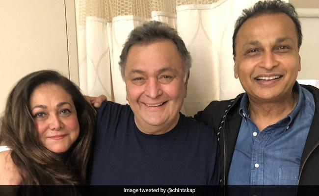 Rishi Kapoor's Rendezvous With His 'Karz' Co-Star Tina Munim In New York