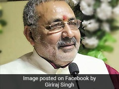 BJP's Giriraj Singh Beats Kanhaiya Kumar By 4 Lakh Votes In Begusarai