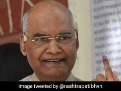 President Ram Nath Kovind, Wife Savita Cast Vote In Delhi