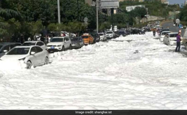 Watch: Mysterious White Foam Comes Out Of Manholes, Covers Entire Road