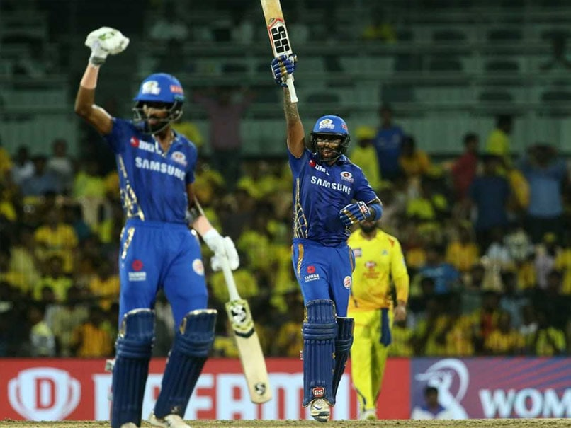 IPL 2019: Suryakumar Yadav Shines As Mumbai Indians Defeat Chennai Super Kings To Enter Final