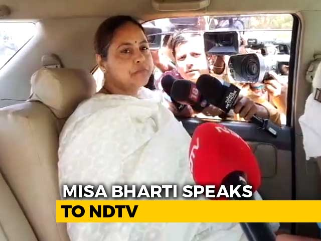 "Video : ""200 Per Cent Confident Of Grand Alliance's Win"": Misa Bharti"