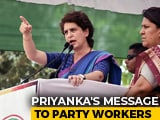 "Video : ""Exit Polls Just To Discourage You"": Priyanka Gandhi To Congress Workers"