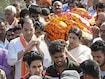 Smriti Irani Attends Funeral Of BJP Worker Shot Dead In Amethi