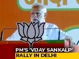 "Video : ""Nakampanthis"": At Mega Delhi Rally, PM Modi Calls AAP Non-Performer"