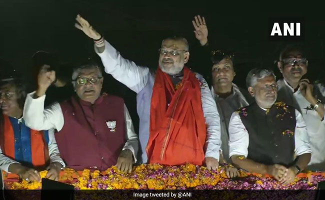 Lok Sabha Elections 2019: With Roadshow, Amit Shah Challenges Shatrughan Sinha In His Backyard