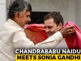 Video : Back From Lucknow, Chandrababu Naidu Meets Sonia Gandhi