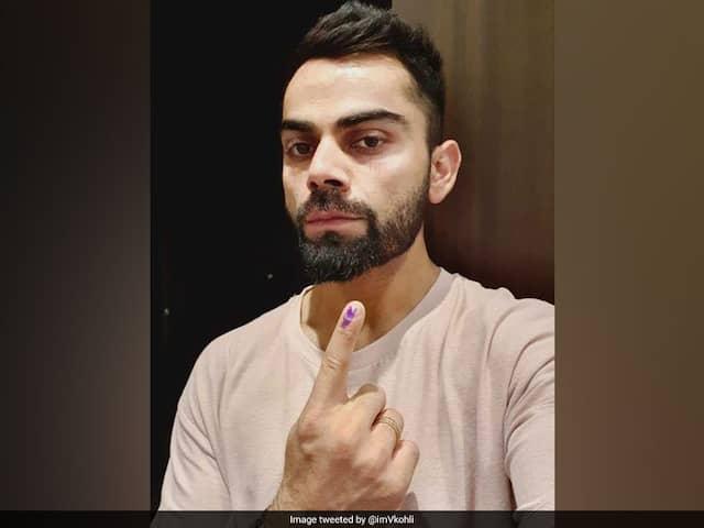Lok Sabha Election 2019: Virat Kohli Votes In Gurgaon, Tweets A Message