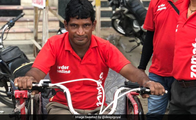 Special Gift For Differently-Abled Delivery Man Brightens Up Twitter