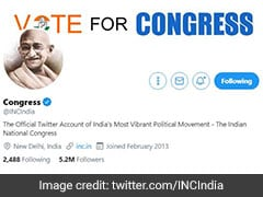 After Godse Row, Congress Switches To Mahatma Gandhi Photo On Twitter