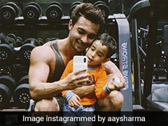 Little Ahil 'Wants Muscles' Not Like Salman Khan's But Like The Hulk's