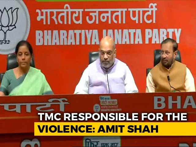 """Video : """"Wouldn't Have Escaped Unhurt But For CRPF"""": Amit Shah On Kolkata Clashes"""