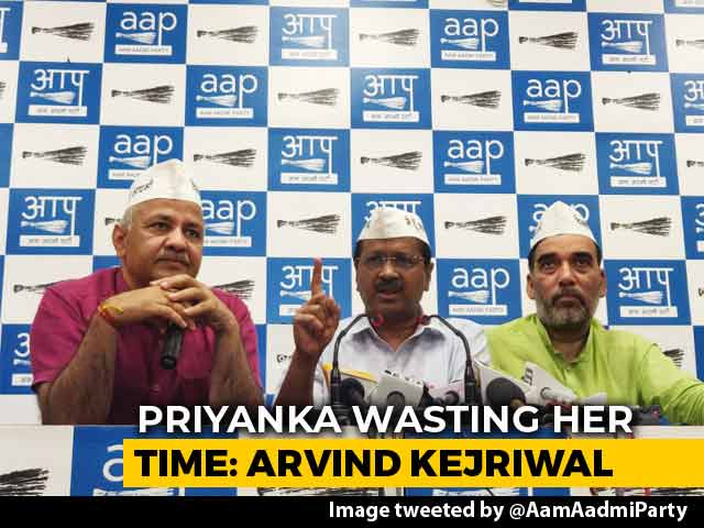 "Video : Priyanka Gandhi ""Wasting Her Time"": Arvind Kejriwal On Delhi Roadshow"