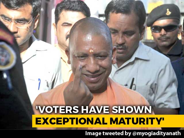 Video : Yogi Adityanath Among Early Voters In Gorakhpur