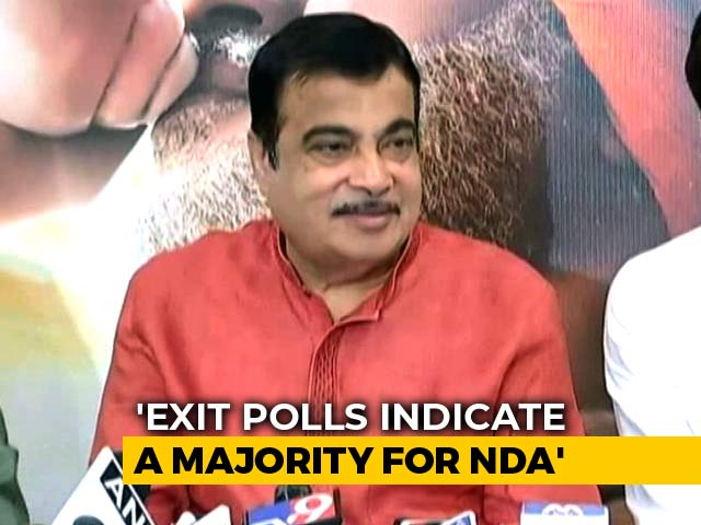 Video : Exit Polls Not Final Decision, But Hint At BJP's Win: Nitin Gadkari