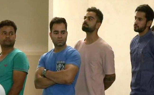 Virat Kohli Takes His Place In Long Queue To Vote Early In Gurgaon