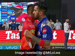 Hardik Pandya Collects KL Rahul