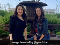 Pics: How Madhuri Dixit Made 'Die-Hard Fan' Gauri Khan's Day