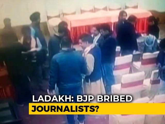 Video : After Leh Journalists' Bribe Claim, CCTV Clip Emerges. BJP Says Will Sue