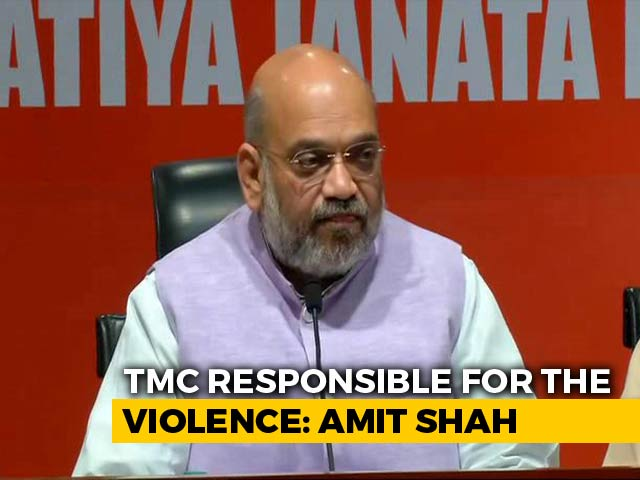 "Video : ""Trinamool Activists Vandalised Vidyasagar Statue,"" Says Amit Shah"