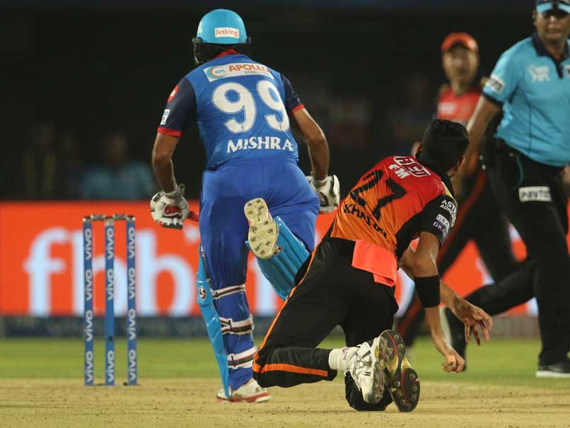 Amit Mishra Second Person In IPL History To Be Given Out For Obstructing The Field