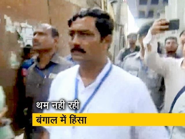 Video : बंगाल में बीजेपी उम्मीदवार राहुल सिन्हा पर हमला, बूथ पर फेंके गए देसी बम