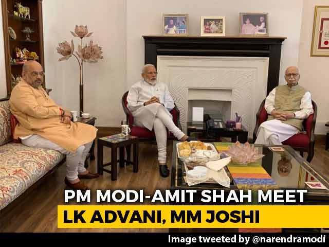Video : PM Modi's First Stop After Mega Win: LK Advani, Murli Manohar Joshi